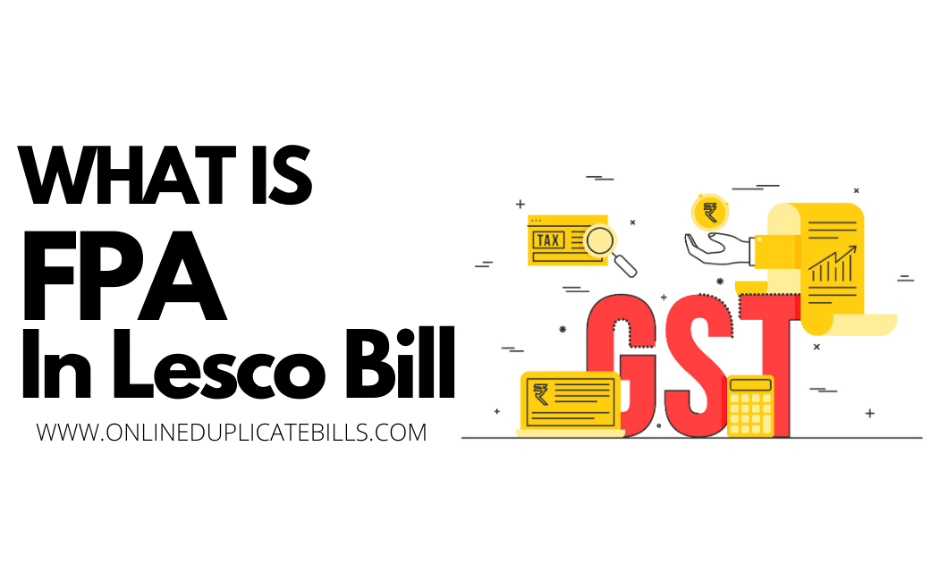 What is FPA in LESCO Bill?