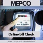 Mepco Online Bill Check- Check,Print and Download duplicate bill
