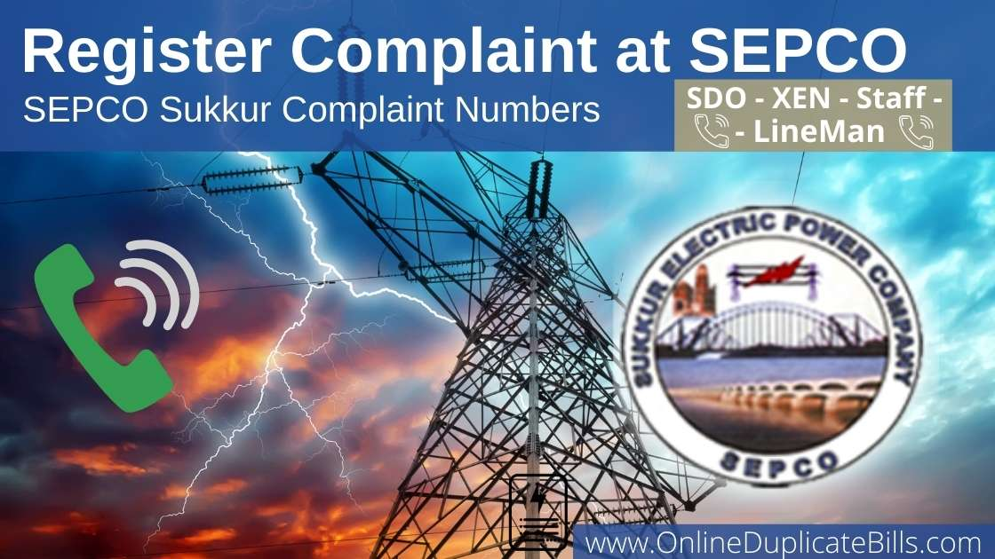 SEPCO Helpline | How to register complaint at SEPCO